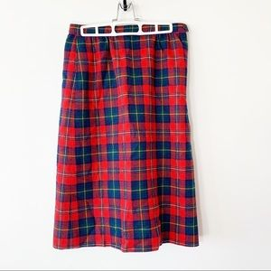 Pendleton Boyd Tartan Red Plaid Wool Skirt 10P